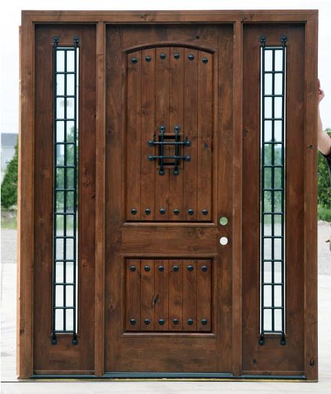 Puertas De Cocina Rusticas. Great Puerta De Madera Maciza Para ...